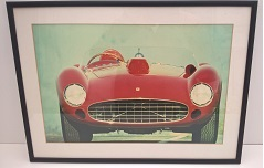 Framed Ferrari Picture