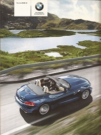 BMW Z4 Sports Car  Brochure 2009