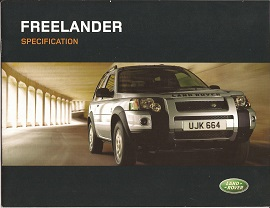 Land Rover Freelander Specification Brochure