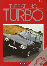 Fiat Uno Turbo Brochure