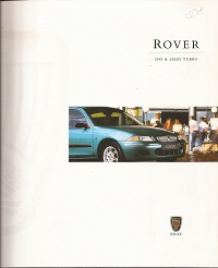 Rover 214 and 220 Brochure