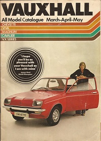 Vauxhall all model catalogue 1977