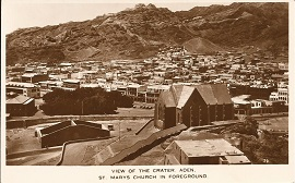 st.mary's church aden postcard