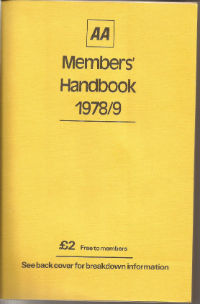 AA Members pack 1978 with key