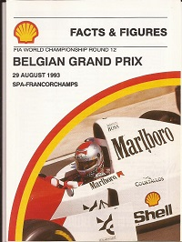 Belgian Grand Prix 1993 Facts and Figures