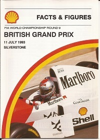 British Grand Prix Facts and Figures 1993 Booklet