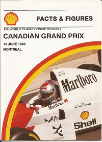 Canadian Grand Prix 1993 Facts and Figures