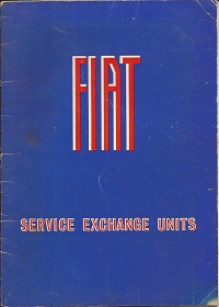 Fiat Service Exchange Units Catalogue Ref. No. FTP/20/10.67 dated 1967