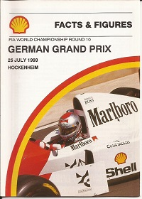 German Grand Prix Facts and Figures 1993
