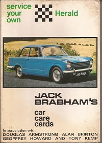 Jack Brabhams Service your own Triumph Herald
