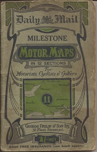 Milestone Motor Map 11. Exeter to Portsmouth 1930