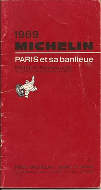 Michelin Guide to Hotels and Restaurants Paris 1969
