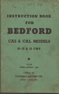 Bedford CA Instruction Book TS 461 1960