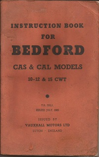 Bedford CA Instruction Book TS 531/1 1961