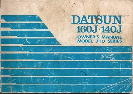 Datsun 160J and 140J Owners Manual 1976