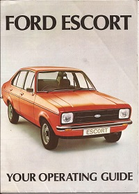 Ford Escort Mk2 Operating Guide 1979