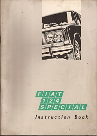 Fiat 124 Special Instruction Book 1968