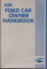 Ford Car Owners Handbook 1980