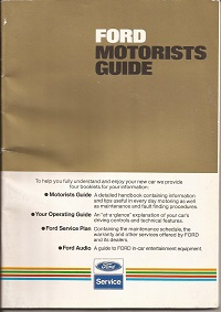 Ford Motorists Guide 1982