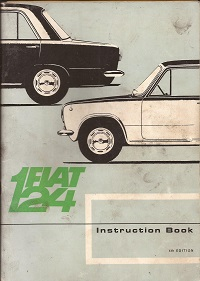 Fiat 124 Instruction Book 1967