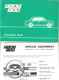 Fiat 128 Instruction Book 1972