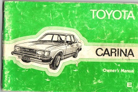 Toyota Carina Owners Manual 1980 3701