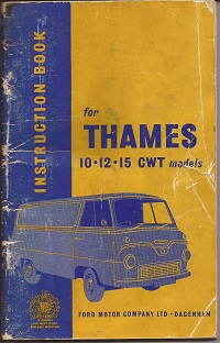 Ford Thames Instruction Book 1959
