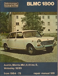 BLMC 1800 Workshop Manual 1964 to 1975