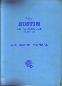 Austin A55 Cambridge Workshop Manual AKD 1025A