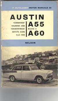 Austin A55 A60 Owners Manual 1966