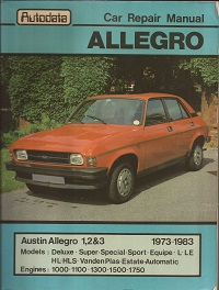 Austin Allegro Workshop Manual 1973 to 1983
