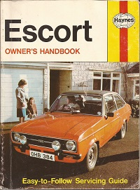 Ford Escort Owners Handbook ISBN 0856963844