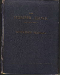 Humber Hawk Workshop Manual WSM104 1954