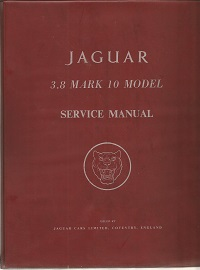 Jaguar 3.8 Mark 10 Service Manual