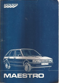 Austin Rover Maestro Workshop Manual 5323 1983