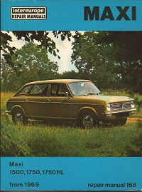 Austin Maxi Workshop Manual ISBN 0856660566