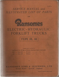 Ransomes Fork Lift Truck Service Manual 16027 G