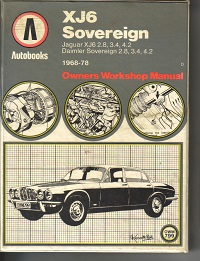 Jaguar XJ6 Owners Manual
