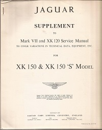 Jaguar XK150 Service manual Supplement