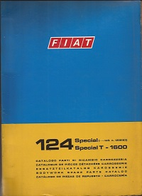 Fiat 124 Special Spare Parts Catalogue 1972