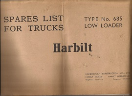 Harbilt 685 Low Loader Parts List