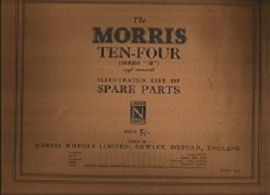 Morris Ten Four Spare Parts List 1946