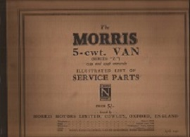 Morris 5CWT Van Parts List