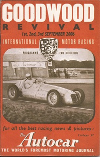 Goodwood Revival Events booklet 2006